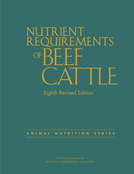 nutrient requirements of beef cattle logo
